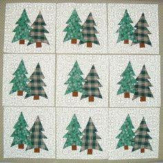 Quilt PATTERN ~ Pine Tree Chain ~ Quilting Pattern from Magazine ... : pine tree quilt block - Adamdwight.com