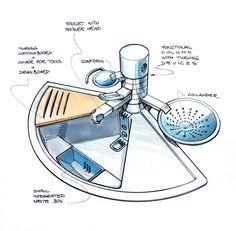 Sink tap design sketch