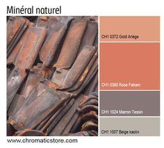 Une association de teintes minérales, naturelles et glamour : atmosphère contemporaine parfaite pour une pièce à vivre. www.chromaticstore.com #deco #inspiration #orange