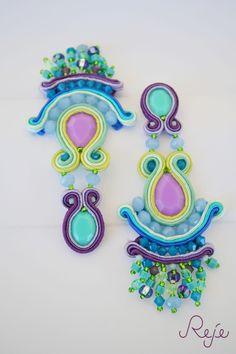 """Colorful Collection s/s 2015 -Reje- """"Violet simplicity"""" gipsy soutache earrings ETSY SHOP: https://www.etsy.com/shop/Rejesoutache?ref=hdr_shop_menu Facebook page: https://www.facebook.com/rejegioielliinsoutache Website: www.rejesoutache.com"""