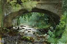 Why Paint with a Limited Palette? Anders Zorn,  River Under Old Stone Bridge,  watercolor, 1884, Zornmuseet, Mora I use six colors w...