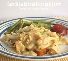 Weight Watchers Recipes | Easy Slow Cooker Chicken and Gravy