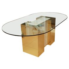 Brass and Marble Table in the style of Milo Baughman
