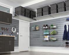 34 Garages For You - Home Awakening Garage Organization Tips, Garage Storage Solutions, Diy Garage Storage, Garage Shelving, Overhead Garage Storage, Garage Storage Cabinets, Organizing, Garage Steps, Plan Garage