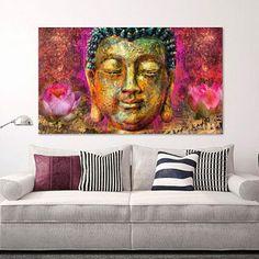 Home Affaire Bild »Michael Tarin   Buddha Head«, Kopf, 135/78 Cm