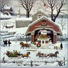 Charles Wysocki - Twas the Twilight Before Christmas