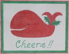 "Kate Dickerson Christmas ""Cheers!"" pillow insert or door hanger"