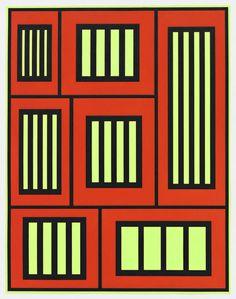 Peter Halley, Prisons (2012), via Artsy.net