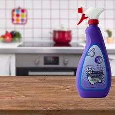 Kitchen degreaser, removes grease and food stains without hard scraping