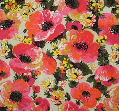 Bold Floral Vintage Fabric
