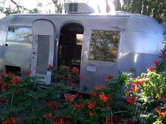 Vintage airstream trailer turned into an art studio