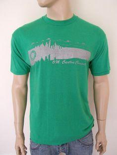VTG 1980s DENVER USA GREEN COTTON T SHIRT LARGE