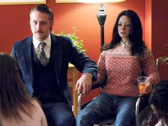 """my man (with his sex doll) in """"Lars and the Real Girl."""" I love socially dysfunctional  people!"""