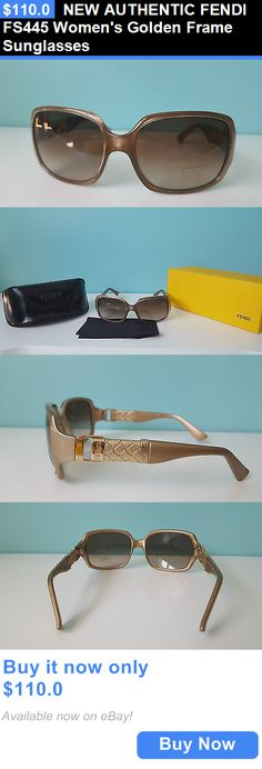 Women Accessories: New Authentic Fendi Fs445 Womens Golden Frame Sunglasses BUY IT NOW ONLY: $110.0