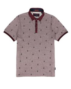 Embroidered polo - Dark Red | Tops & T-shirts | Ted Baker UK