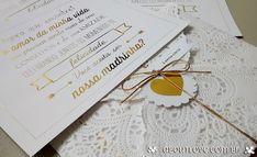 AboutLove - Convite especial para padrinhos dourado
