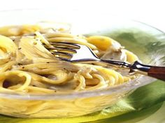 Spaghetti mit Lachscreme