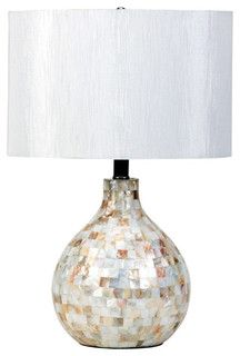 The Simple Stores Mosaic Look Table Lamp - tropical - table lamps - by The Simple Bedroom Furniture Store