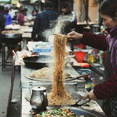 Shanghai street food, SO GOOD. (Just don't try starfish...)