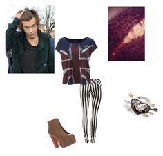 """""""Shopping with Harry"""" by shellyshway ❤ liked on Polyvore featuring moda, Jeffrey Campbell, Delfina Delettrez ve Burberry"""