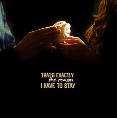 """Rumbelle. OUAT. """"That's exactly the reason I have to stay."""" Belle to Rumplestiltskin/Mr Gold, Once Upon A Time."""