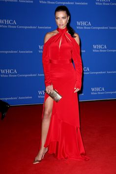 White House Correspondents' Dinner 2016: The Most Show-Stopping Gowns | People - Adriana Lima in Juan Carlos Obando