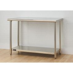 Seville Classics Stainless Steel Kitchen Utility Table Home - Stainless steel table accessories
