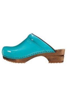 CLASSIC PATENT - Clogs - turquoise