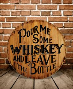 Whiskey Sign Rustic  Buy One  Get One  Free by DesignKraftSigns