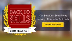 Back to Skills - Udemy $10 Only Flash Sale - Back to school course deals