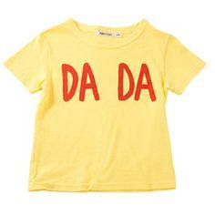 Bobo Choses Baby SS Tee - Dada, Yellow