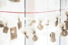DIY Advent Calendar with burlap