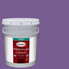 Glidden Premium 5 gal. #wnba-127C Los Angeles Sparks Purple Semi-Gloss Interior Paint with Primer, Purples/Lavenders
