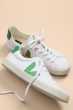 f08cc86b6deb Veja Exclusive Esplar Canvas Sneakers (White Emeraude) – Sneakers