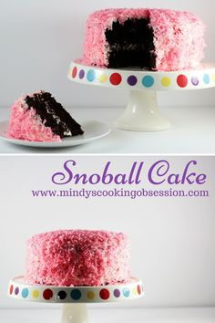 Snoball Cake features a rich chocolate cake, decadent cream filling, vanilla frosting, coconut, and it tastes just like the popular snack cake. by corina Cupcake Recipes, Cupcake Cakes, Dessert Recipes, Cupcakes, Gourmet Recipes, Cake Pops, Berry, Vanilla Frosting, Cake Ingredients
