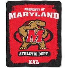 University of Maryland Terps Fleece Blanket Throw 50x60