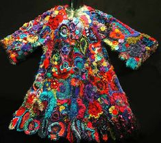 """What is """"Freeform Crochet"""" you ask The Vixen? Freeform crochet is like painting – the hook is a brush and the yarn a paint. The resul. Freeform Crochet, Irish Crochet, Crochet Motif, Crochet Stitches, Free Crochet, Crochet Patterns, Crochet Potholders, Crochet Coat, Crochet Jacket"""