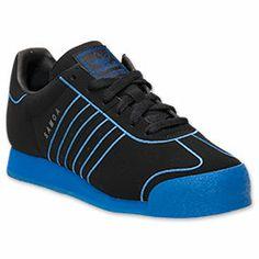 Men's adidas Samoa Casual Shoes   FinishLine.com   Black/Satellite Blue
