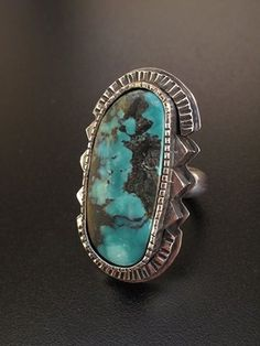 Ring - gotta love turquoise Navajo Jewelry, Southwest Jewelry, Indian Jewelry, Southwestern Style, Modern Jewelry, Metal Jewelry, Jewelry Art, Silver Jewelry, Turquoise Rings