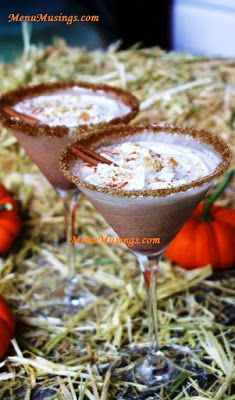 Menu Musings of a Modern American Mom: Pumpkin Pie Spiced Martini