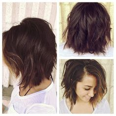 Medium Shattered Bob | Short Hairstyle 2013