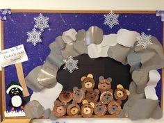 """Do not disturb until spring"" The bears are hibernating in Mrs.Walker's class at Benson Memorial UMC Preschool."