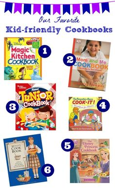 Fun way to get the kids to help in the kitchen & list of cookbooks for kids!  Great idea for holiday gifts -- pair with apron and kid sized baking tools! (Baking Tools Gift)