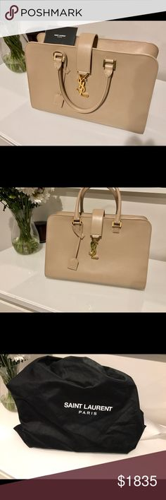 YSL Cabas large satchel Brand new , never been used YSL large Cabas handbag. The color is dark tan . Beautiful limited edition YSL bag , comes with a shoulder strap as well. Saint Laurent Bags Satchels