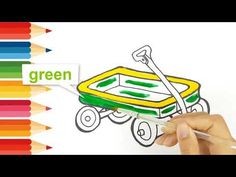Step by step draw easy How to drawing and coloring a wagon Smart kids only Kids Wagon, Only Child, Learning Colors, Working With Children, Step By Step Drawing, Try It Free, Coloring For Kids, Easy Drawings, Make It Yourself