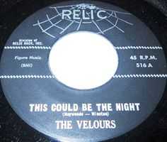 From New York, USA, The Velours - featuring the wonderfully expressive lead of Jerome Ramos, whose halting and vibrato-laden vocal style was one of the most intriguing in doo-wop - were one of the most impressive groups of the doo-wop era. Other members included Charles Moffett, John Pearson, Don Haywoode, John Cheatdom and pianist Calvin Hayes. The group first recorded for Baton, although nothing was released, but in 1957 they joined Onyx and success followed.