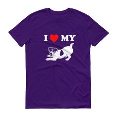 I Love My Jack Russell - Men's Short Sleeve T-shirt