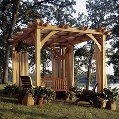 Pergola - plans.  Love this.  Looks so simple, too.