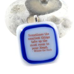 sometimes the smallest things...winnie the pooh pendant fused glass £15.00