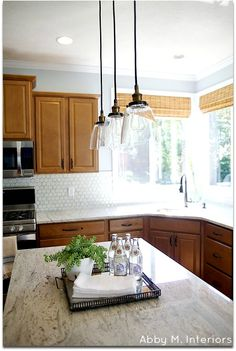 Abby M. Interiors: before and after: Rockford Kitchen client